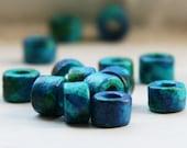 Turquoise ceramic beads C 10 024