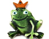 Large Prince Frog Pendant 35x48mm -  P 30 001