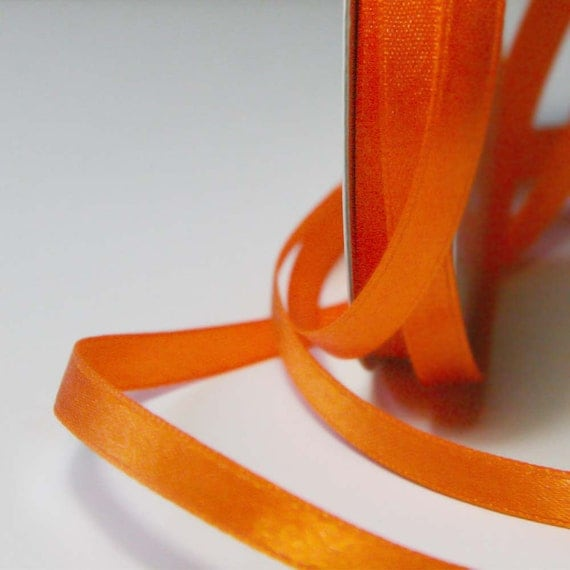 Orange Solid Nylon Ribbon 6mm - 5m (5.5 yards) S 40 070