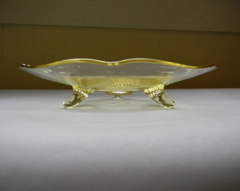 YELLOW CAKE PLATE, Elegant  Serving Plate