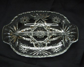 DIVIDED DISH, Relish Dish, Olive. Pickle,Dip, Cheese Serving Dish