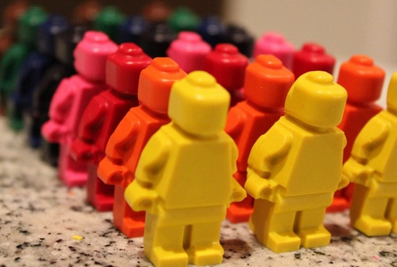 Lego Minifigure Crayons - Set of 8