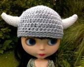 Grey Viking Helmet for Blythe