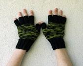 Mens Fingerless Gloves mittens Gift For Boyfriend, Husband, Dad - Black Brown Green. Etsy Dudes.