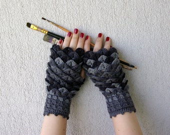 Fingerless gloves Fingerless mittens Womens gloves Mens Winter gloves handmade wrist warmers Grey arm warmers texting gloves Driving gloves