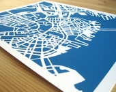 "Boston Papercut City Print - 8"" x 10"" - Paperchoke"