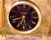 Danberry Clock with Stand in Gold Tone