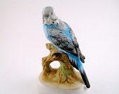 Parakeet Blue Lefton Vintage Figurine  on Branch