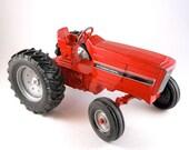 "Vintage Tractor ""ERTL""  International Red Metal Toy Tractor"