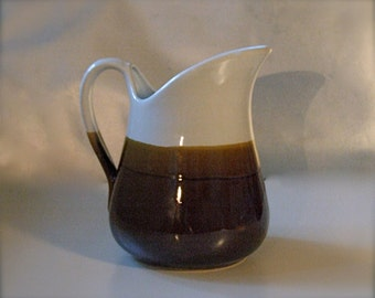 Pitcher with a spout in Brown and Wheat a Perfect size