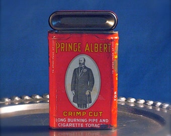 Prince Albert Can in Red White and Yellow
