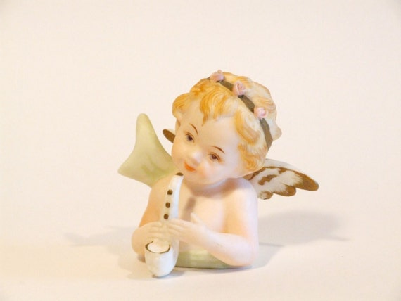 Vintage Porcelain Bisque Angel Girl Figurine
