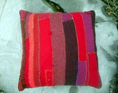 shades of red pillow