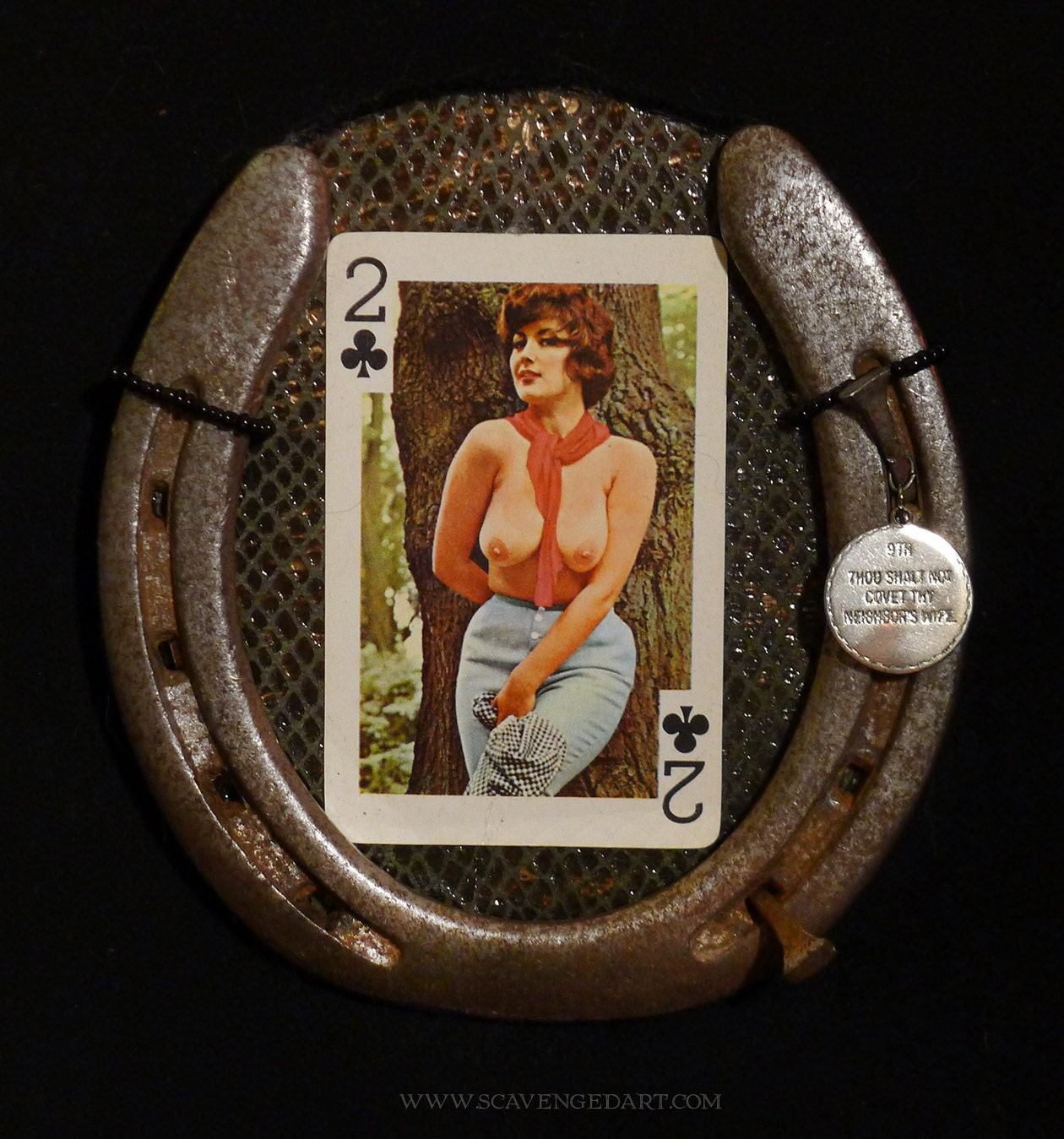 Card Lucky Horseshoe Wall