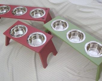 Raised Dog Feeding Station -  2 Bowl