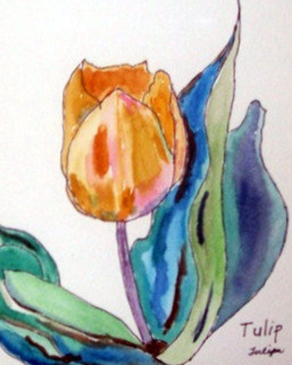 Tulip (original painting)