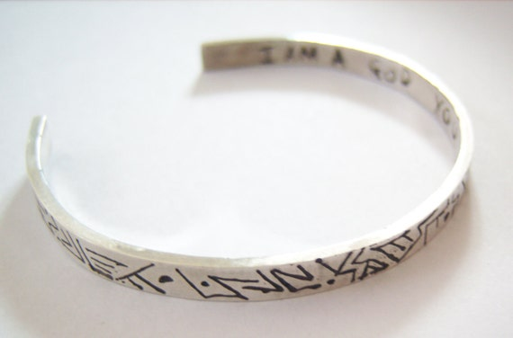 Avengers Loki I am a god you dull creature quotation silver bangle