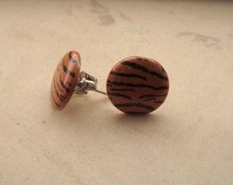 Tiger Print Earrings