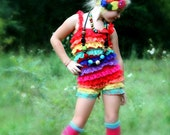 Gorgeous Posh  Couture The Emma Rainbow Sass Large  rosette flower  Headband Baby & girls photograpy prop Bow Rosette