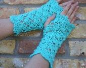 Crochet Shells Fingerless Gloves Half Mittens  PDF - Crochet Pattern