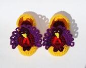 "PDF-pattern  crochet baby booties ""Turkey Thanksgiving"" sizes 0--6-12-18 month-pdf-pattern"