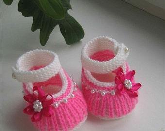 "knit  booties  ""Caramel Candy"" (pdf pattern)"