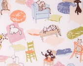 Domesticats / Cotton quilting fabric / Alexander henry fabrics / Natural / 1 YARD