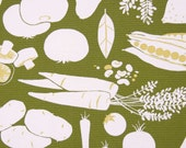 Farmers Market / cotton / heavy weight / upholstery fabric / Alexander Henry Fabrics / Green / 1/2 YARD