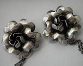 1930's Sterling Brooches Signed Raffaele Chatelaine Vintage Pins