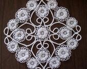 White Doily Irish Crochet Lace Irish Roses