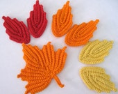 Crocheted Leaves Applique Irish Lace