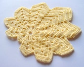 Crocheted Maple Leaf Doily/ Coaster/ Applique