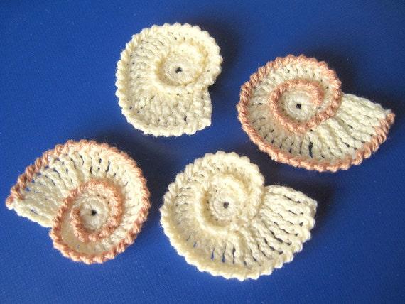 Crochet Sea Shells Applique