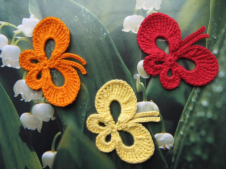Crochet Butterfly Applique - photo#4