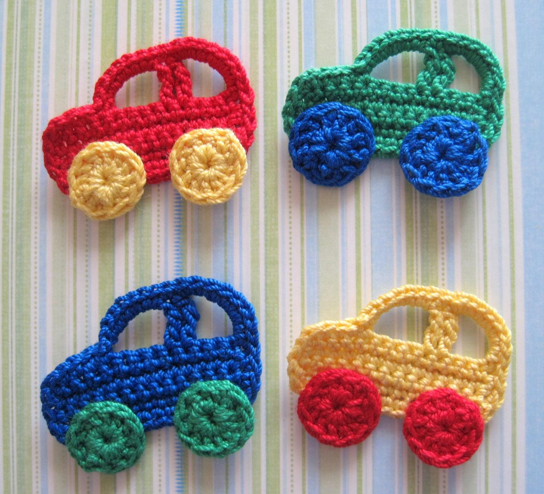 crochet car appliques. Black Bedroom Furniture Sets. Home Design Ideas