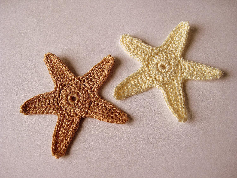 Free Crochet Pattern Starfish : Crochet Starfish Appliques Star Fish Sea Stars Stars