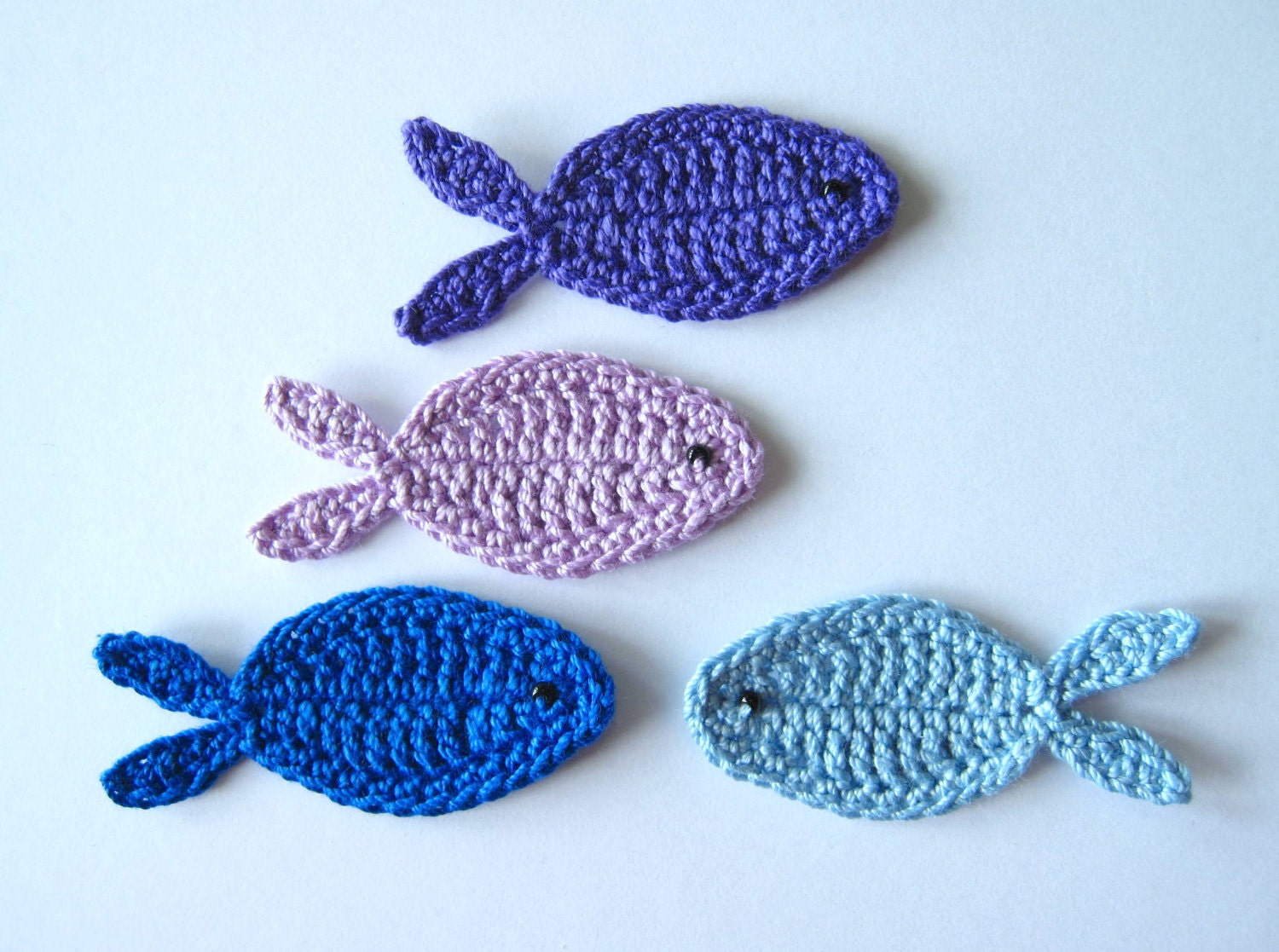 crochet fish appliques. Black Bedroom Furniture Sets. Home Design Ideas