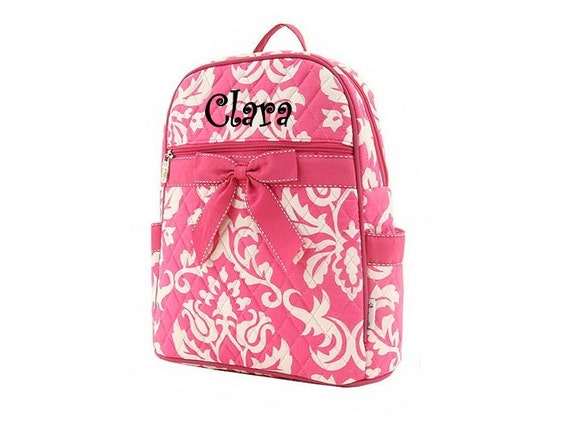 Personalized Medium Damask Backpack (3 colors to choose from)