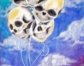 October Balloons Print for StephLovesLush