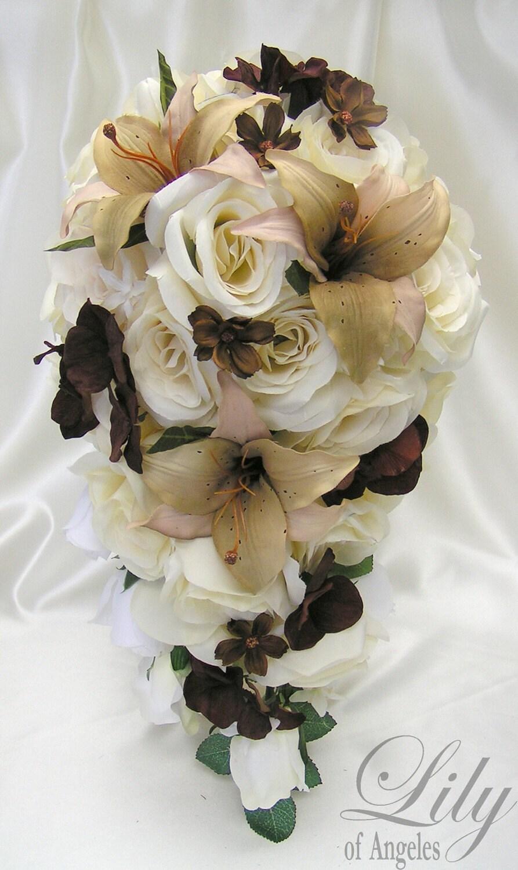 17 pieces package silk flower wedding decoration bridal. Black Bedroom Furniture Sets. Home Design Ideas