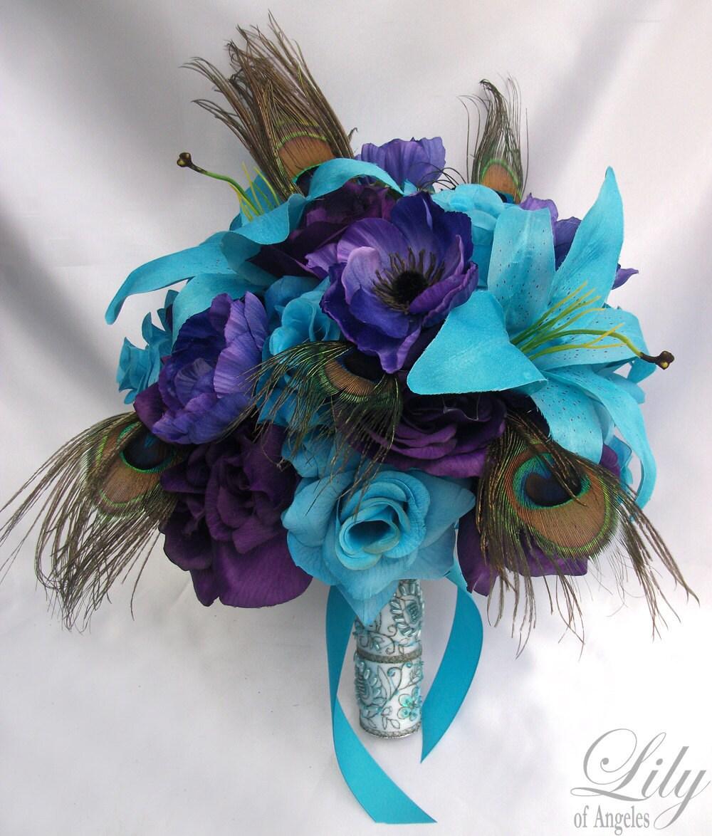 17 piece package wedding bridal bride bridesmaid bouquet zoom dhlflorist Gallery