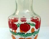 Vintage Anchor Hocking Juice Pitcher, Oranges, Tomatoes