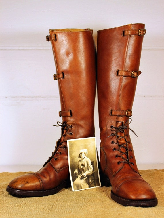 Vintage Bort Carleton Leather Boot Riding 1970s Mens 9.5