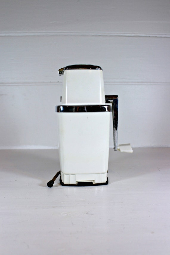 Vintage Ice Crusher, Swing A Way, White, 1950s
