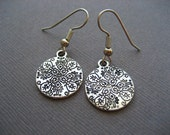 Silver Tibetan Coin Earrings