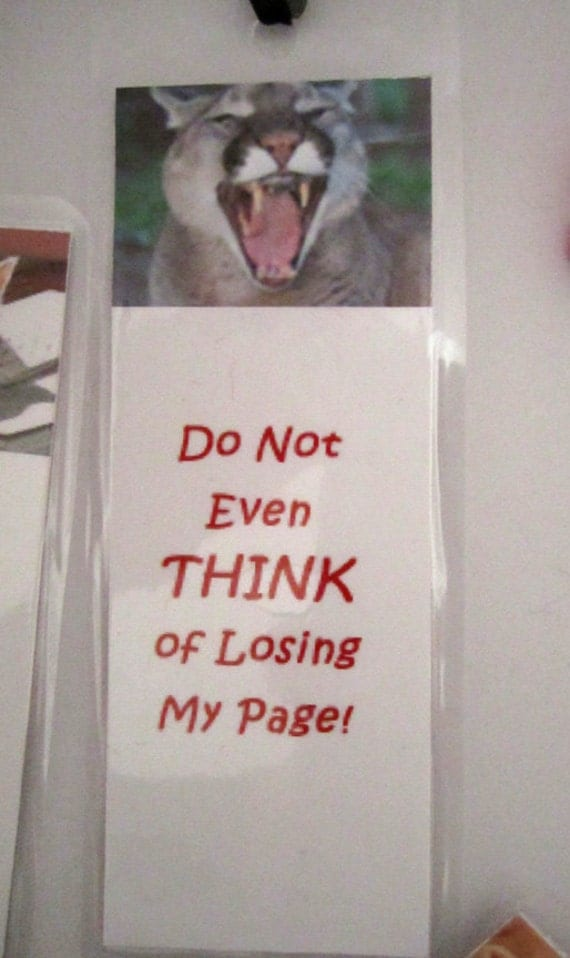 P-O'd Puma Bookmark