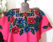 Velvet Embroidered Huipil Blouse//SalePrice