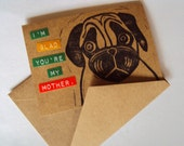 Handmade Pug Card for Mom