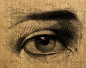 Eye Illustration clipart Digital Image Great For Image Transfer on Pillows, Tea Towels and more - Style. 335