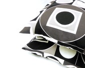 Pillow Covers. Set of Two 16x16.  Black and White geometry